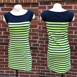French Connection 4 Dress Stretchy Fitted Striped